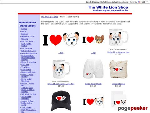 White Lion Shop @ CafePress.com