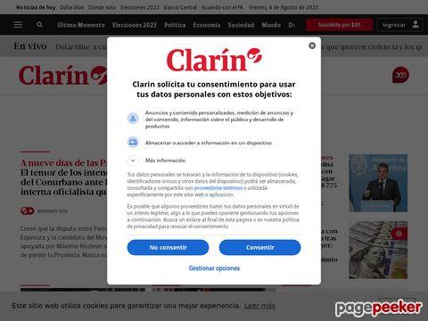 Captura de Pantalla de Clarín
