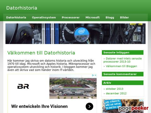 Datorhistoria