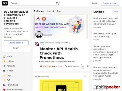 đánh giá trang web Dev.to