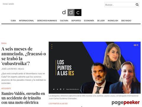 Captura de Pantalla de Diario de Cuba
