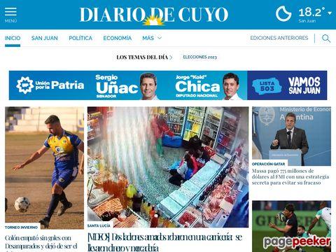 Captura de Pantalla de Diario de Cuyo