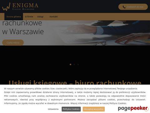 """""""ENIGMA"""" USŁUGI KSIĘGOWE, PIOTR JEŻEWSKI, EWA MATUSZEWSKA"""