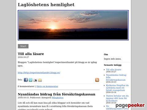 Laglöshetens hemlighet - http://experimentlandet.bloggo.nu