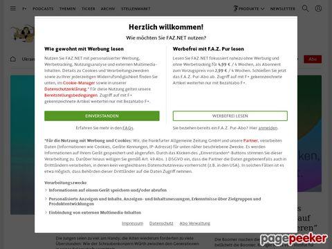 Captura de Pantalla de Frankfurter Allgemeine