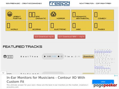 FreePD.com - Free Public Domain Music Creative Com