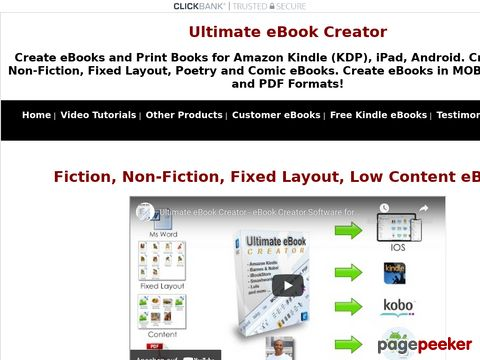 eBook Creator Software - Ultimate eBook Creator For Amazon Kindle
