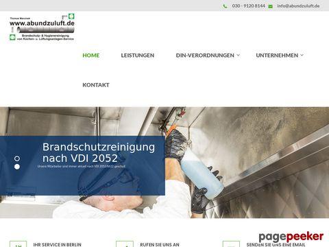 Ab- und Zuluft Service | Küchenabluftservice Berlin
