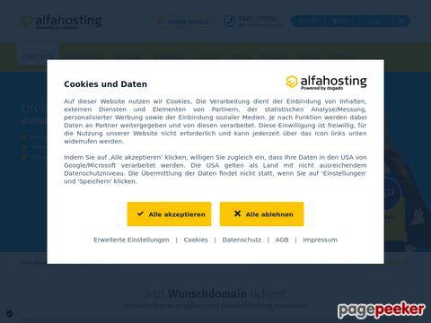 preiswertes Webhosting und Webspace bei Alfahosting.de