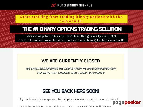 AutoBinarySignals.com – Binary Options Trading Solution