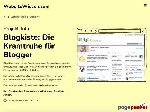 Bloggen für Blogger | Blogkiste.com