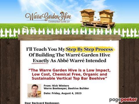 DIYBeehive.com - Build Your Own Warre Garden Backyard Top Bar Bee Hive