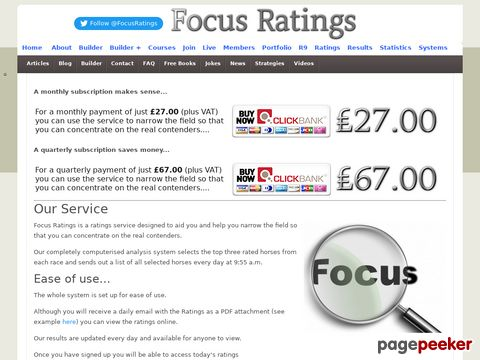 Subscribe – Focus Ratings