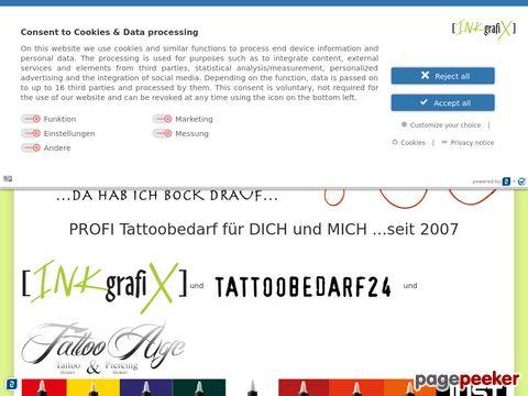 Inkgrafix Onlineshop - Tattoobedarf, Tattoomaschinen, Farbe und Nadeln