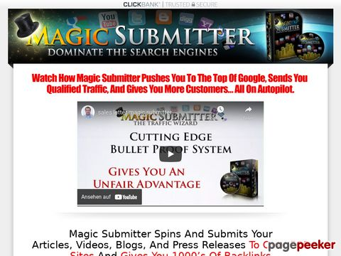 Magic Submitter a tool to help target your sites SEO