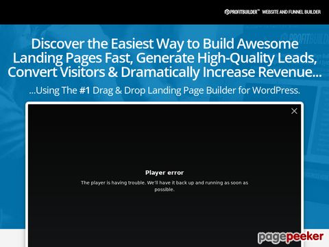 ProfitBuilder - The #1 Drag & Drop Marketing Page Builder for WordPress