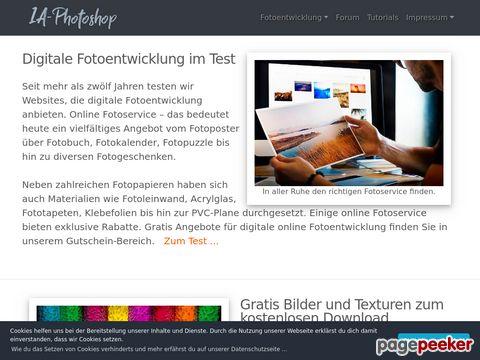 Photoshop Tutorials und digitale online Fotoentwicklung