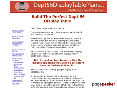 Dept 56 Display Table Plans - Build the Perfect Dept 56 Display Table