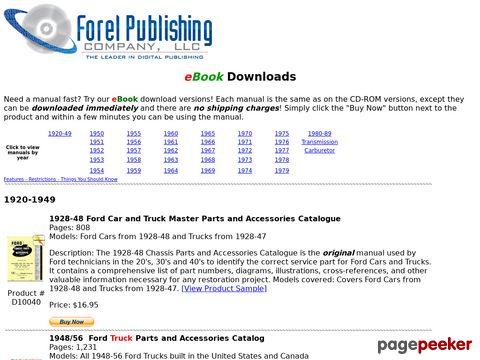 ForelPublishing.com - Digitally Downloadable Ford Manuals