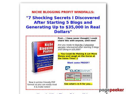 Niche Blogging Profits I Blog for Money (Faster)