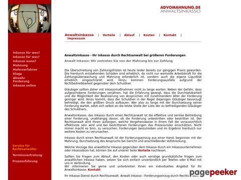 Advomahnung - Ihr Anwaltsinkasso bundesweit