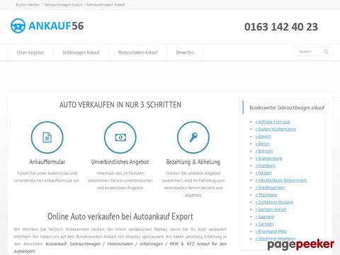 Autoankauf Export - Auto Verkaufen | Gebrauchtwagen ankauf | PKW KFZ