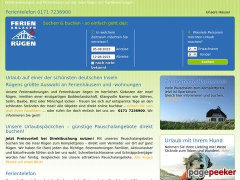Insel Rügen Ferienwohnungen Ferienhäuser Ferienwohnung Rügen