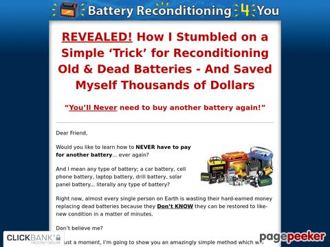 Battery Reconditioning 4 You - How To Recondition Death Batt...