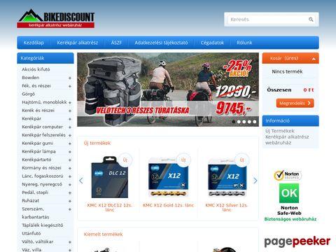 Kerékpár és kerékpáralkatrész webáruház