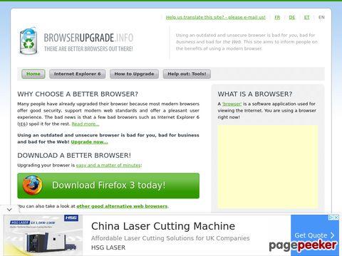 Browser Upgrade Information