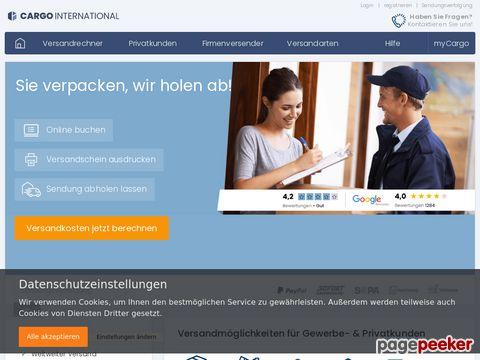 Speditionsversand Cargo International