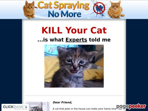 Cat Spraying No More - How to Stop Cats From Urinating Outsi...