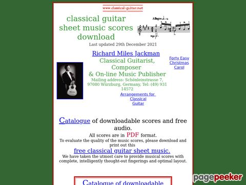 Classical guitar sheet music - downloadable scores