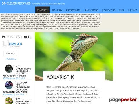 Tiere und  Haustiere im Tier-Webkatalog der Pets