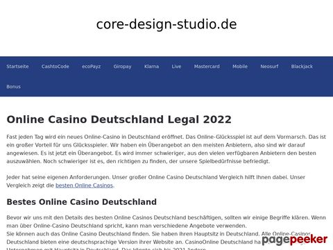 Webdesign | Core Design Studio