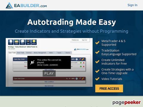 Expert Advisor Builder - Create indicators and strategies for MetaTrader 4 & 5 and TradeStation