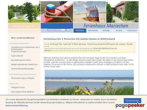 :: Ferienhaus mit Sauna in Ostfriesland an der Nordsee ::