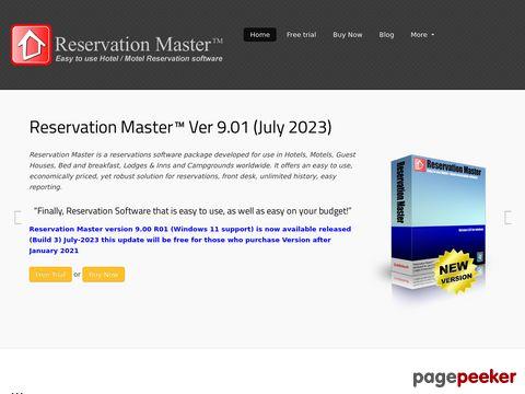 Reservation Master, Motel Hotel reservation software