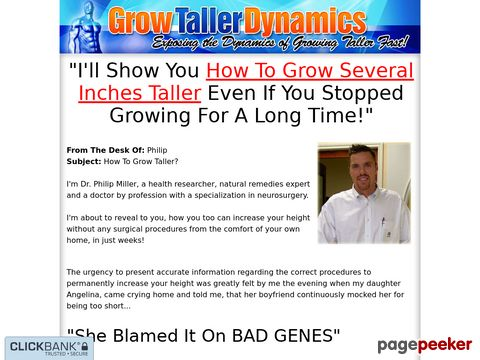 Grow Taller Dynamics - Exposing the Dynamics of Growing Taller Fast!
