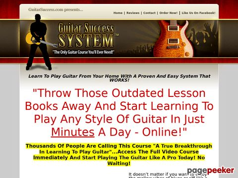 Guitar Success System - The Only Guitar Course You'll Ever N...