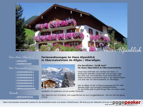 Ferienwohnungen in Obermaiselstein im Allgäu