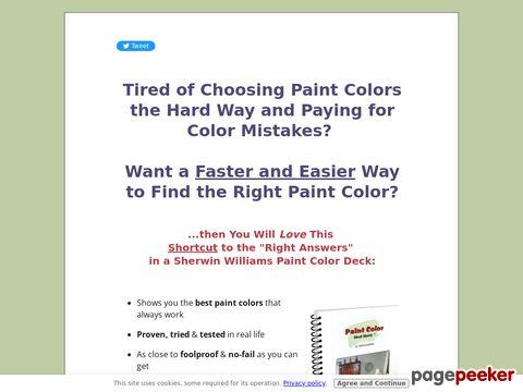 Paint Color Cheat Sheets: Most Popular Interior Paint Colors