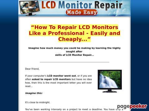 LCD Monitor Repair Made Easy - How To Repair LCD MOnitors