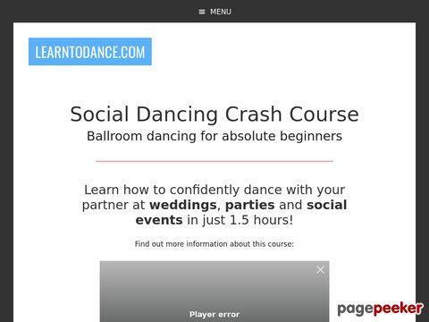 Social Dancing Crash Course - Ballroom dancing for absolute ...