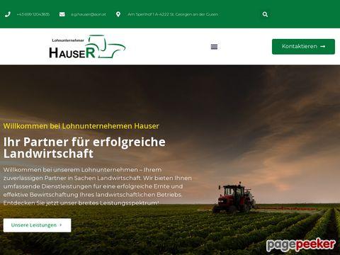 Lohnunternehmen Hauser - Land- und forstwirtschaftliche Dienstleistung
