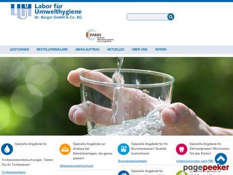 Nachweis von Legionellen im Warmwasser-Kreislauf der Hausinstallation
