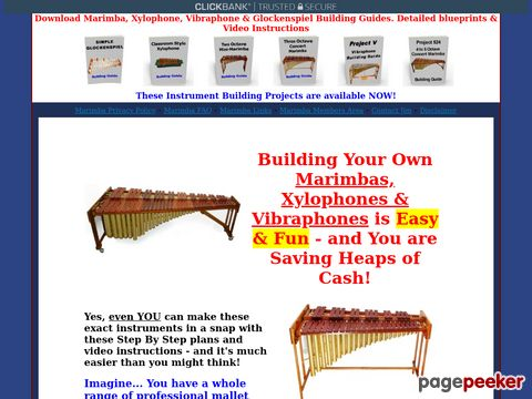 Download Plans to Make or build a marimba, vibraphone, xylop...