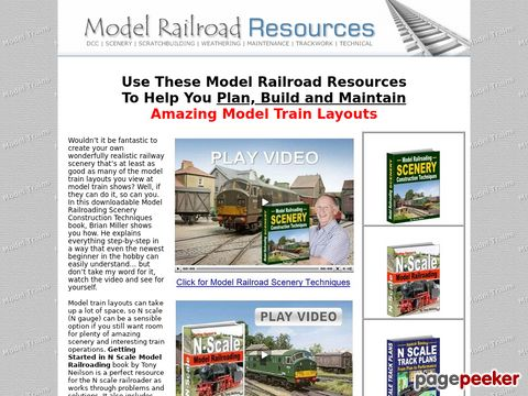 Model Train Layouts - Model Train Scenery Ideas - Home Page