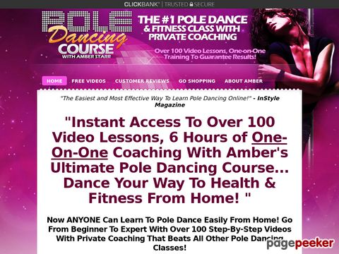 Home Pole Dancing Classes - 6 Hours of 100 Pole Dancing Vide...