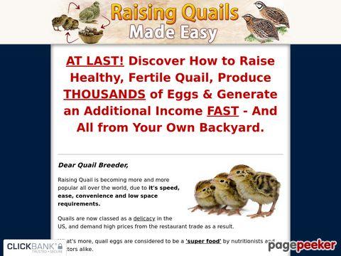 Raising Quails Made Easy - How To Raise Quails the Easy Way